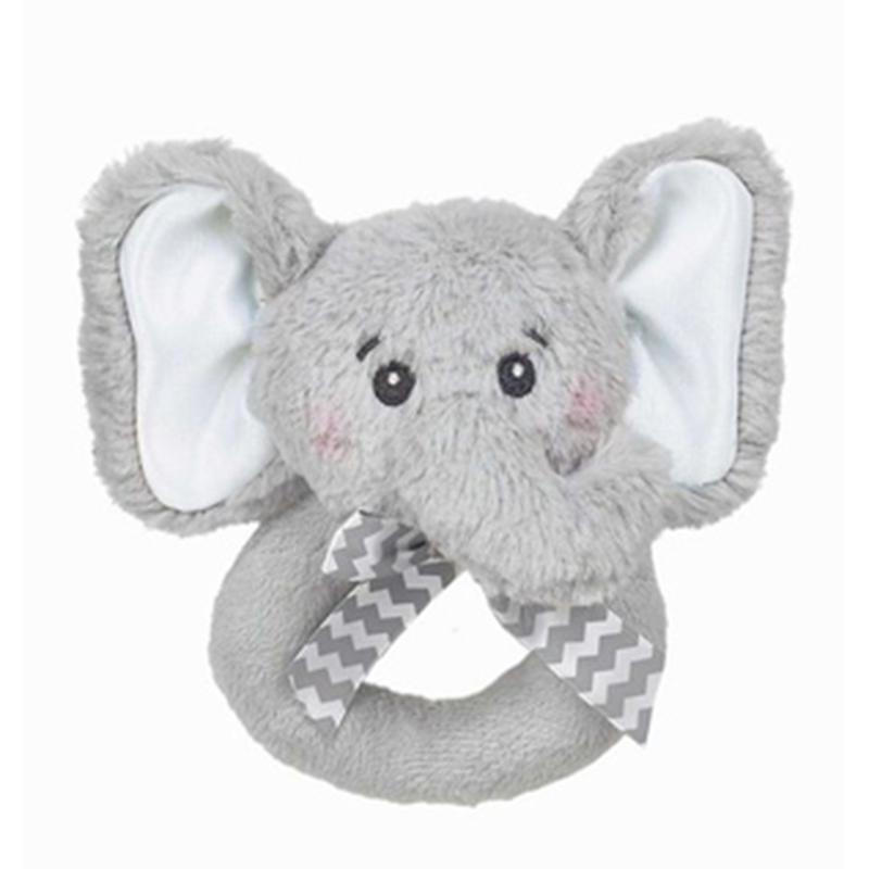 Lil' Spout Elephant Plush Rattle