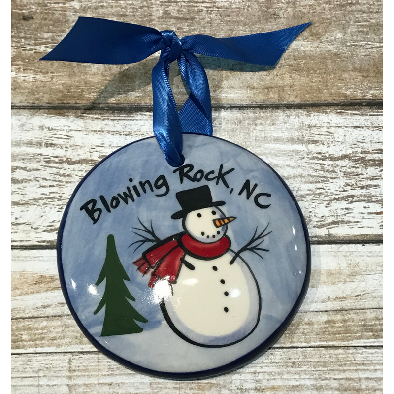 Blowing Rock Snowman Ornament
