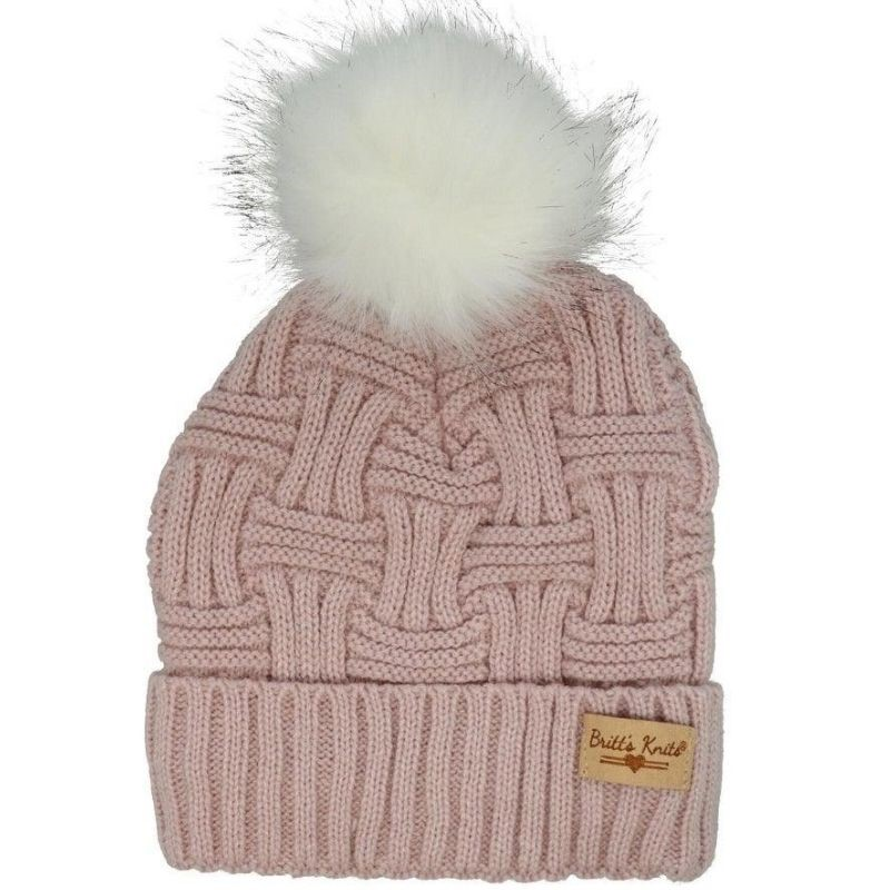 Blush Plush Lined Knit Hat