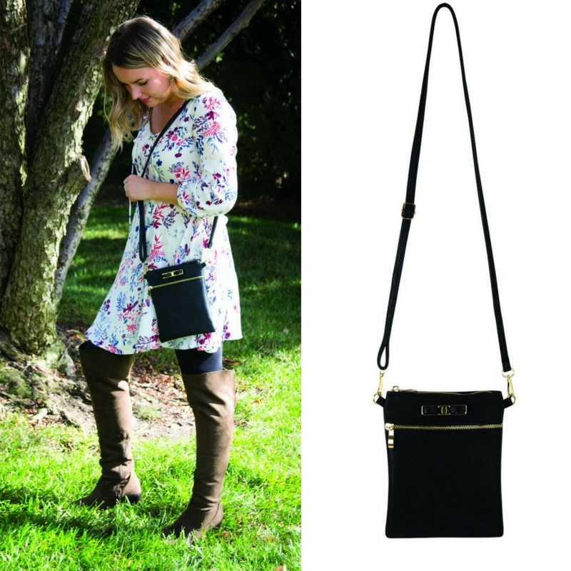 Crossbody Bag Black Bow