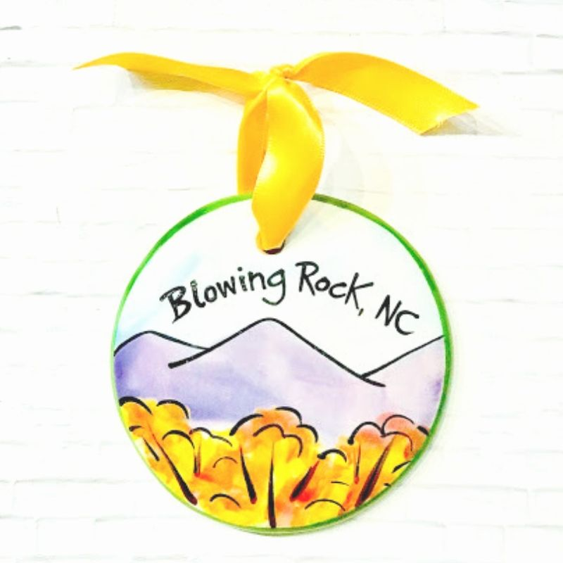 Blowing Rock Fall Mountain Ornament