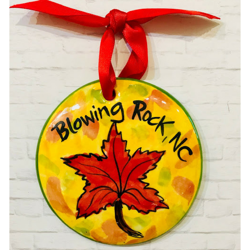 Blowing Rock Leaf Ornament