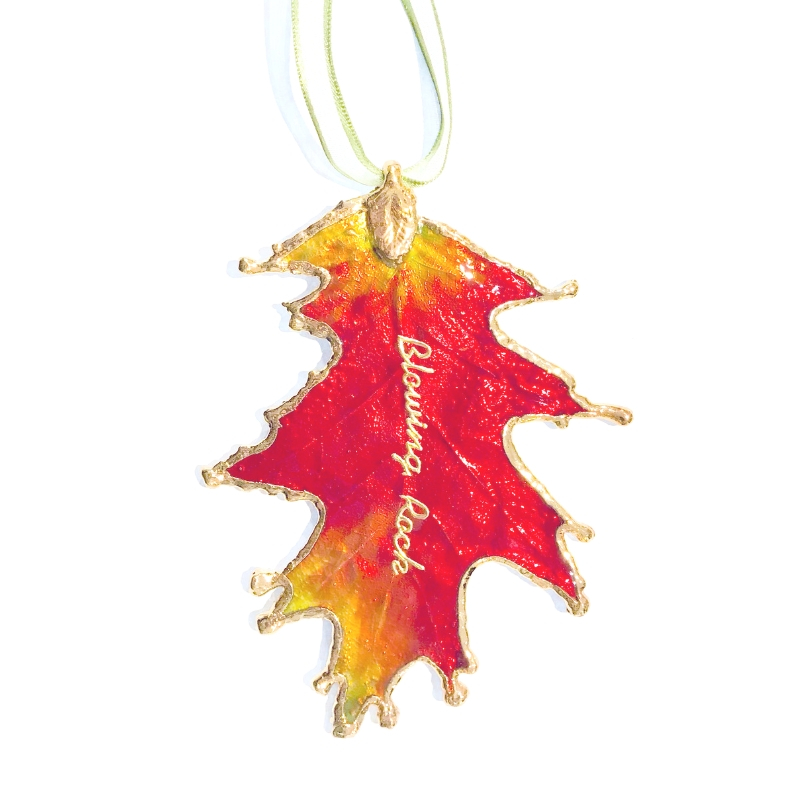 Lacquered Oak Leaf Ornament