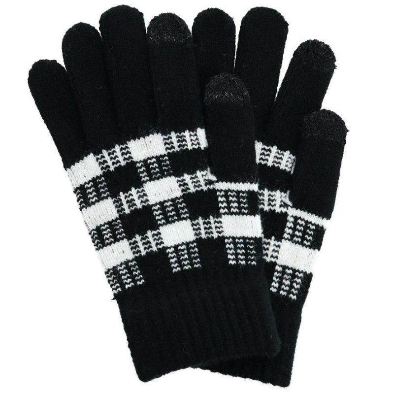 Black Buffalo Plaid Gloves