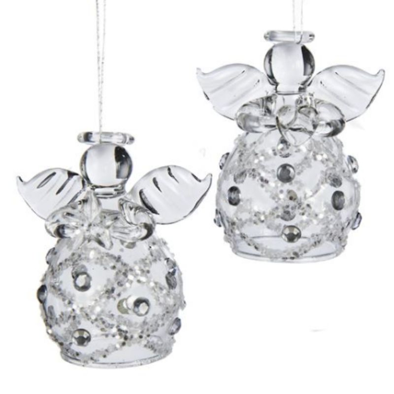 Clear Glass Angel Ornaments
