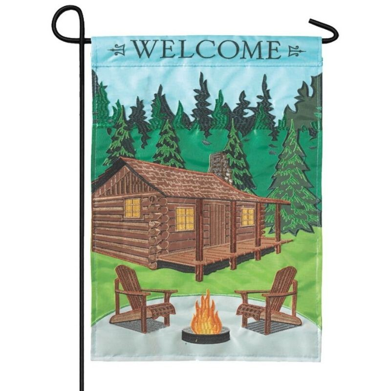 Welcome Cabin Garden Flag