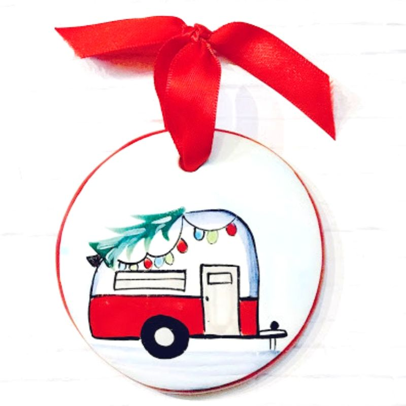 Camper Flat Ornament