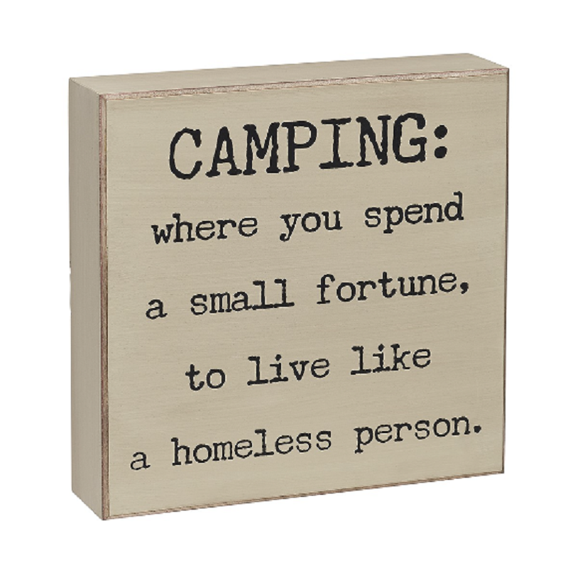 Collins Camping Box Sign