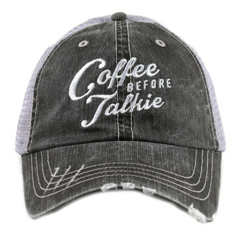 Coffee Before Talkie Trucker Hat