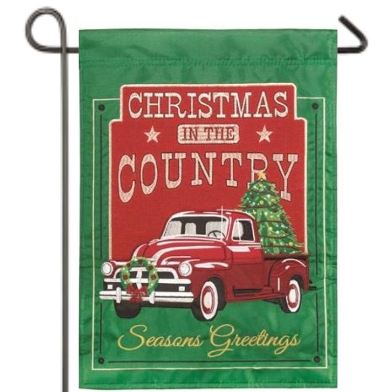 Christmas in the Country Garden Flag