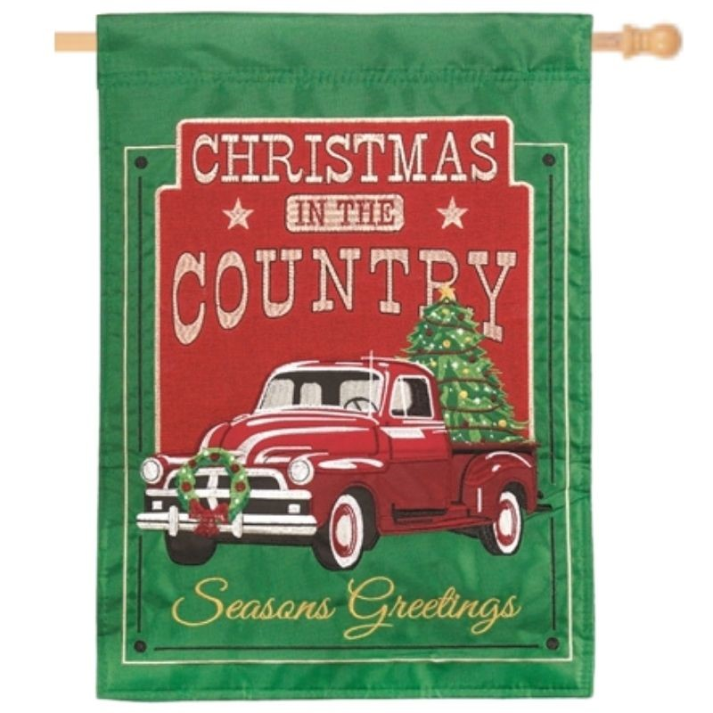 Christmas in the Country House Flag