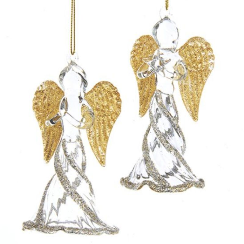 Glittered Glass Angels