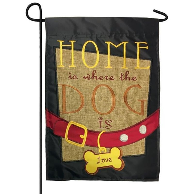 Home Dog Is Garden Flag
