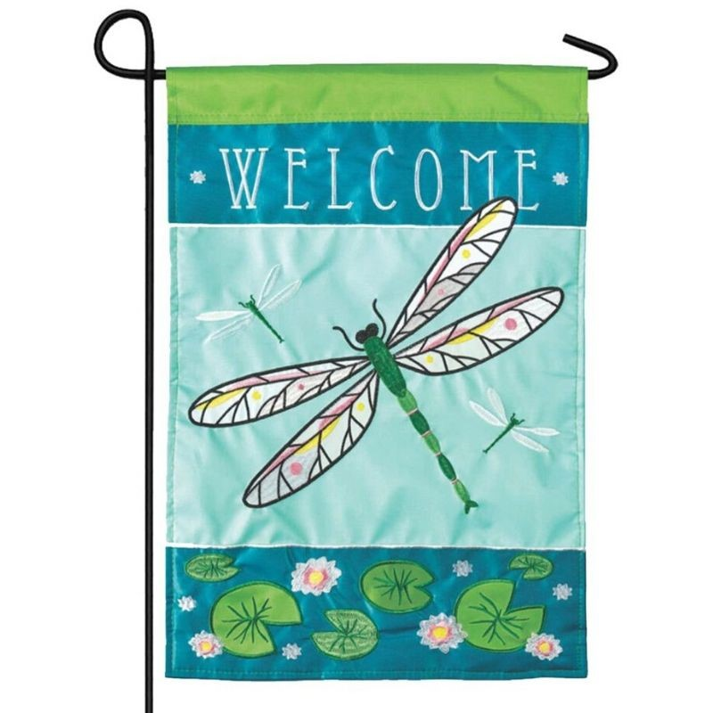 Dragonfly Welcome Garden Flag