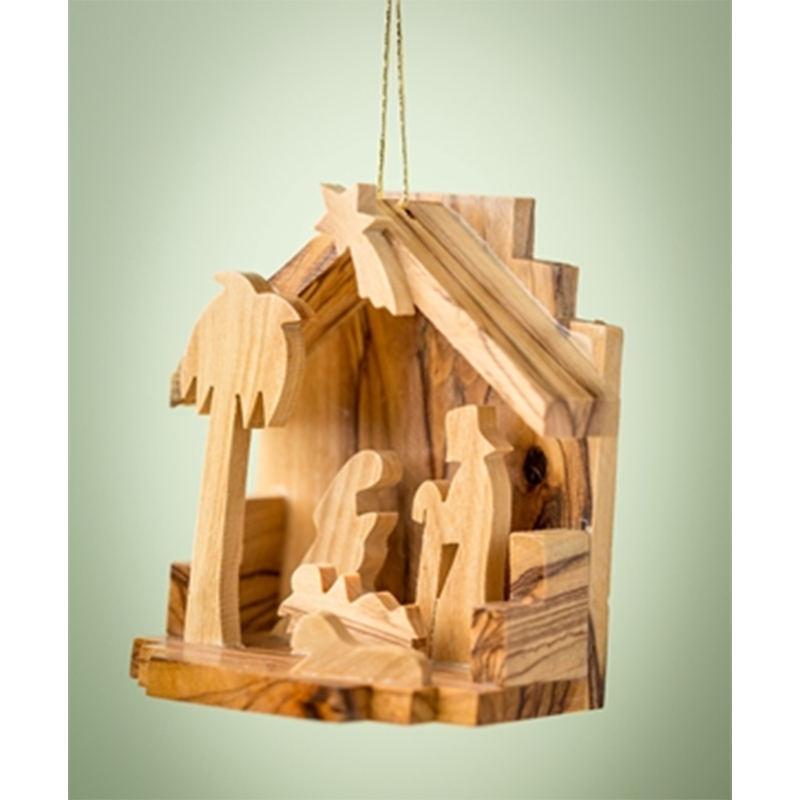 Small Grotto Nativity Ornament
