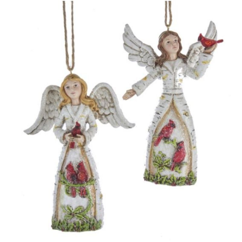 Birch Angels Ornaments