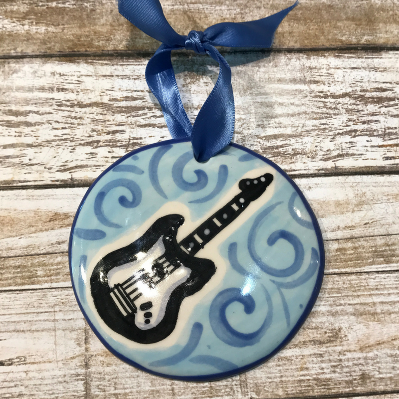Electric Guitar Flat Ornament