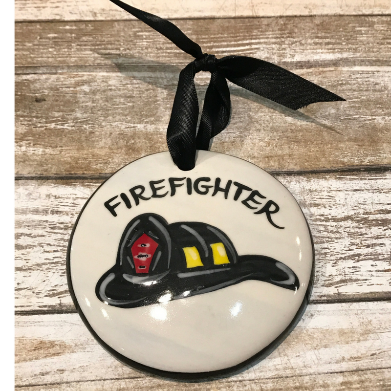 Fire Helmet Flat Ornament