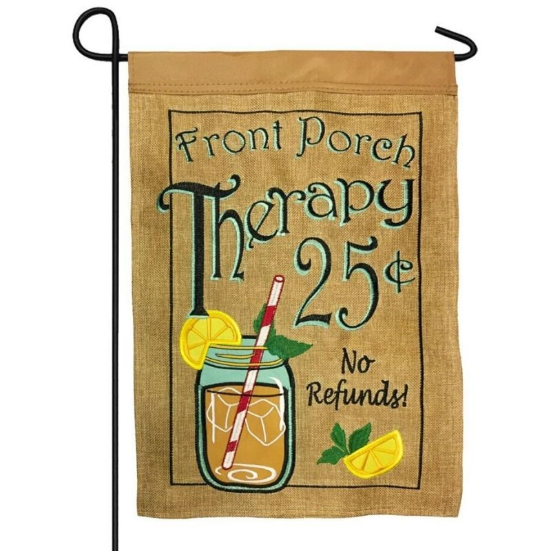 Porch Therapy Garden Flag