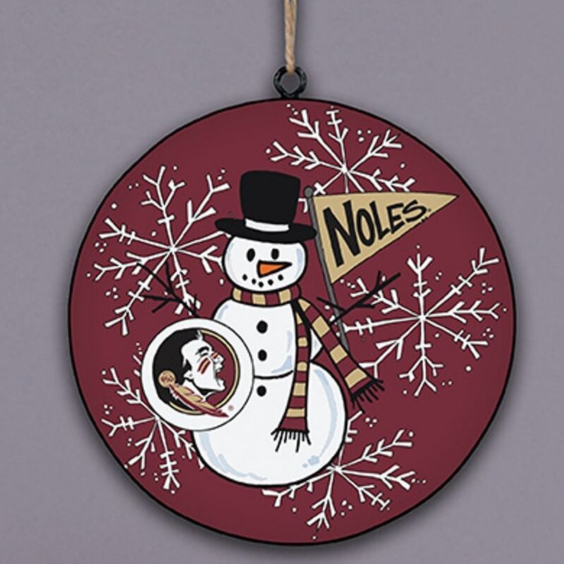 FSU Snowman Ornament