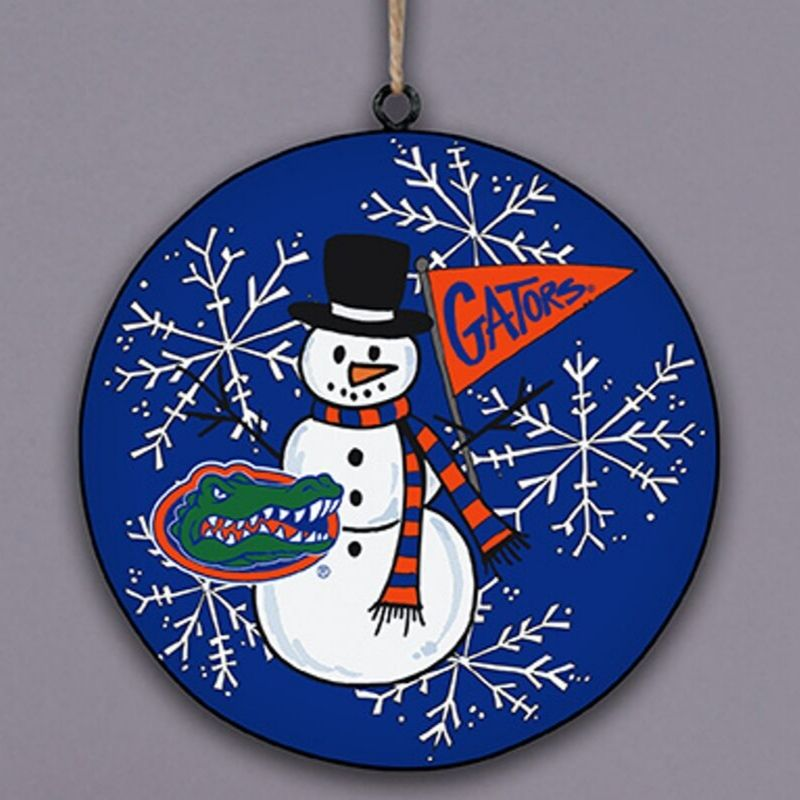 Florida Gators Snowman Ornament