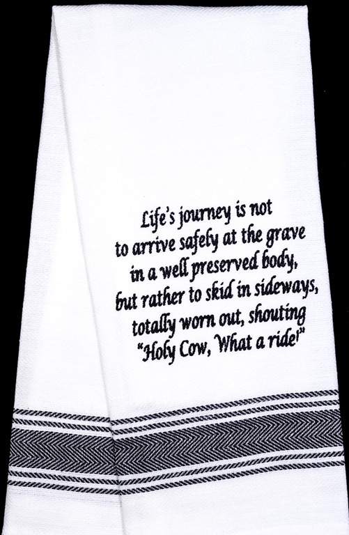 Life's Journey Tea Towel