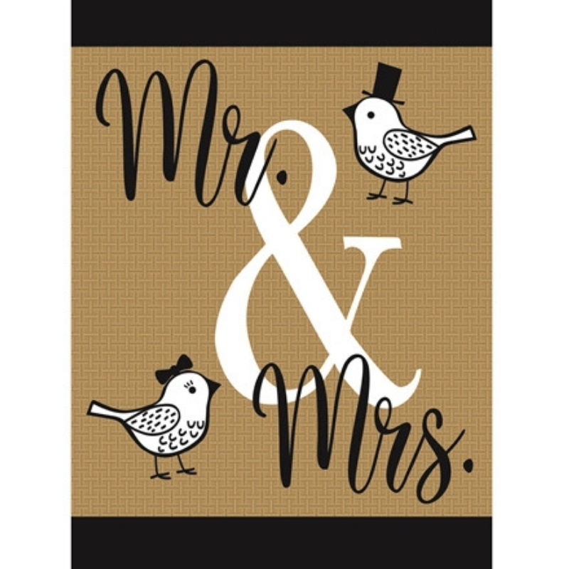 Mr. & Mrs. Garden Flag