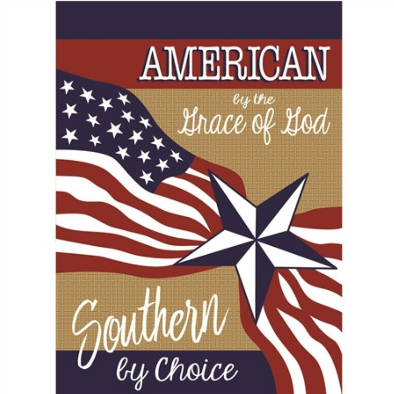Souther by Choice Garden Flag