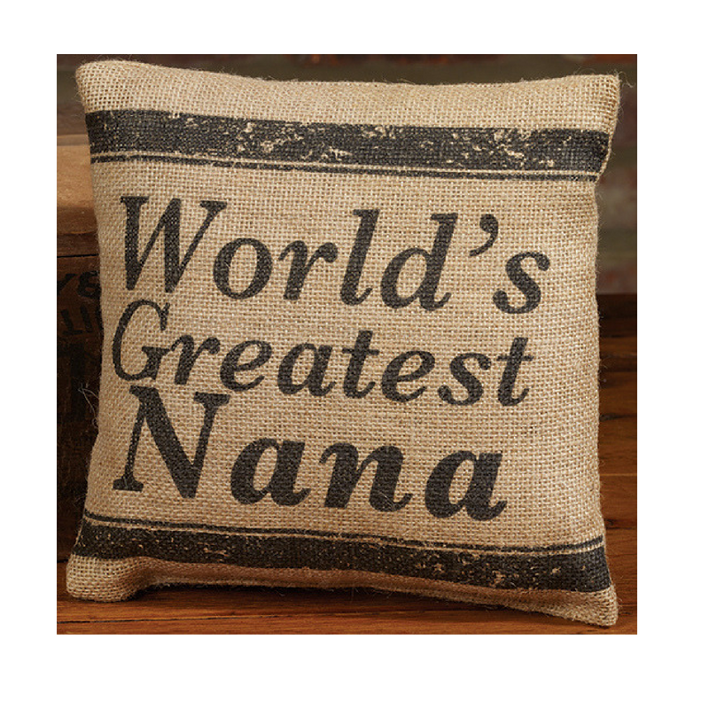 Nana Burlap Pillow
