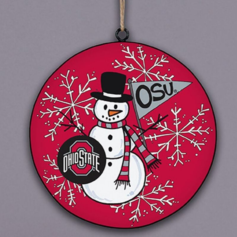 Ohio State Snowman Ornament