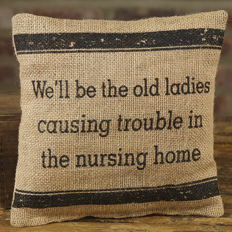 Old Ladies Trouble Pillow