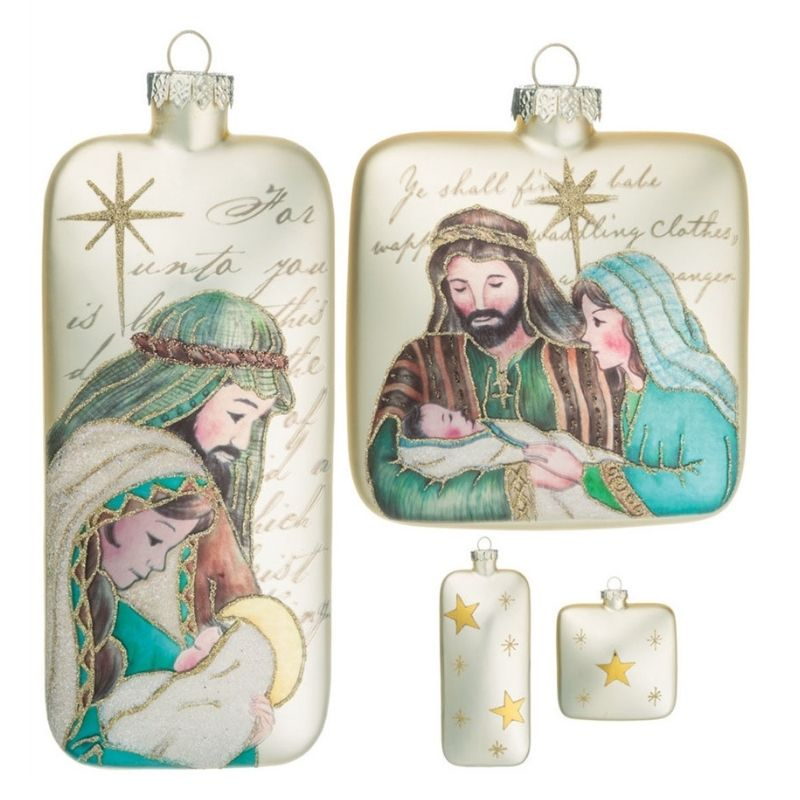 Holly Family Ornaments