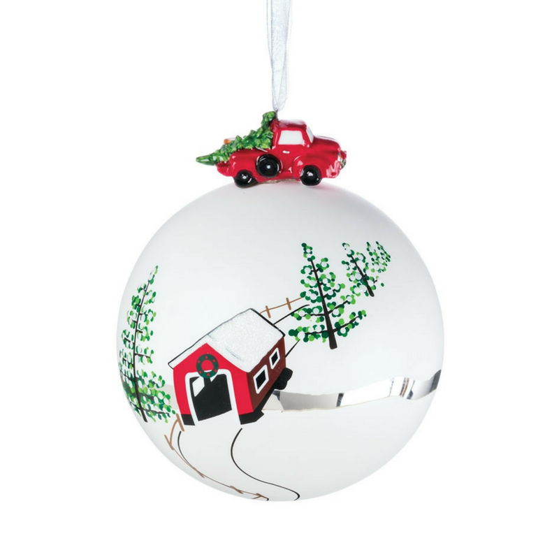 Red Truck Ball Ornament