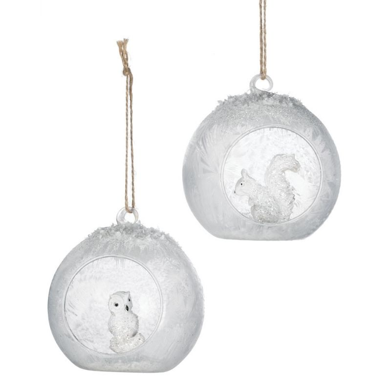 Squirrel & Owl Ornaments