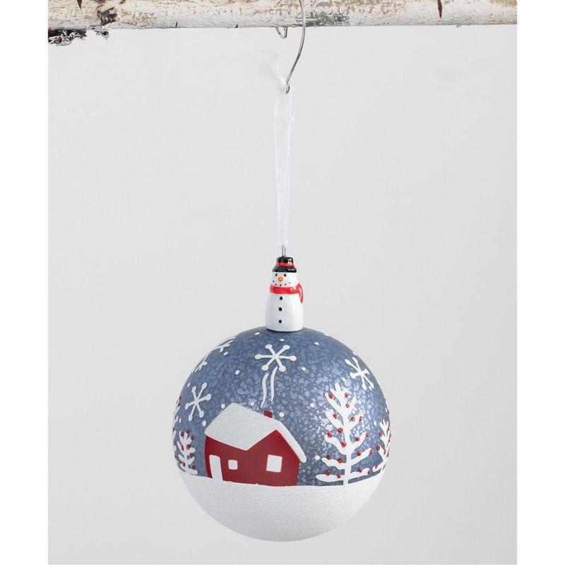 Snowflake Barn Ornament