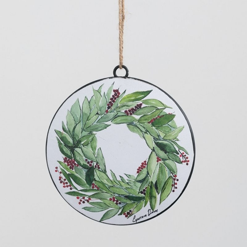 Bay Wreath Ornament