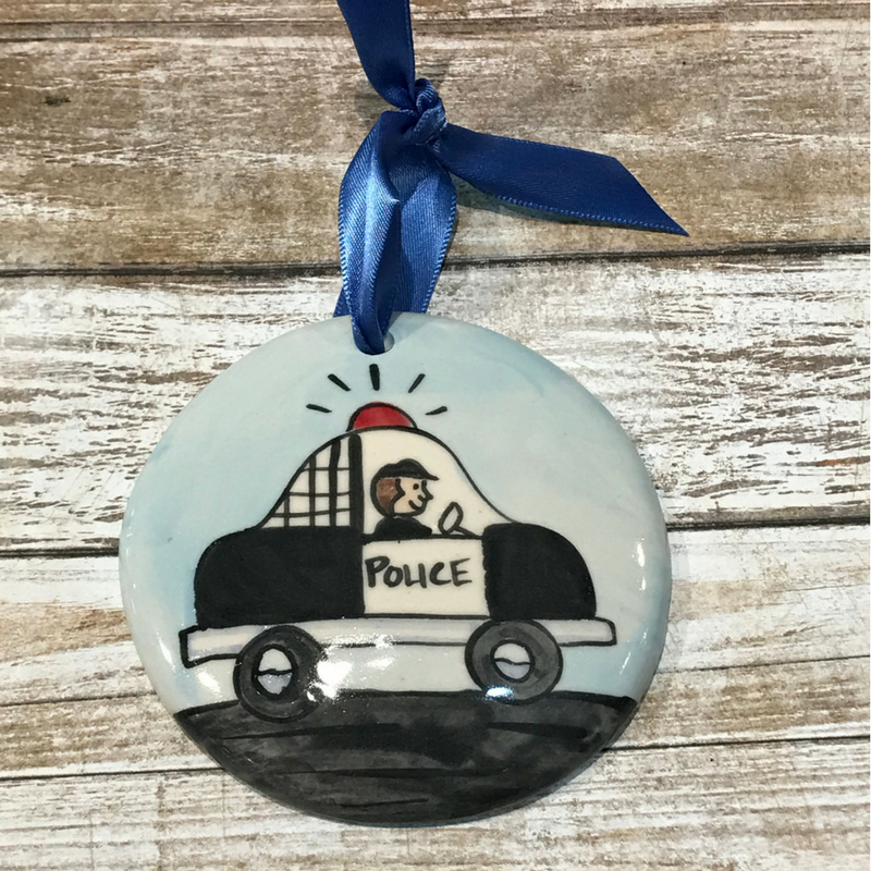Police Flat Ornament