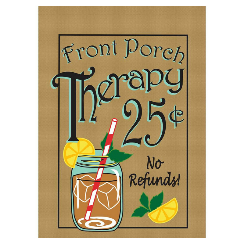 Porch Therapy House Flag