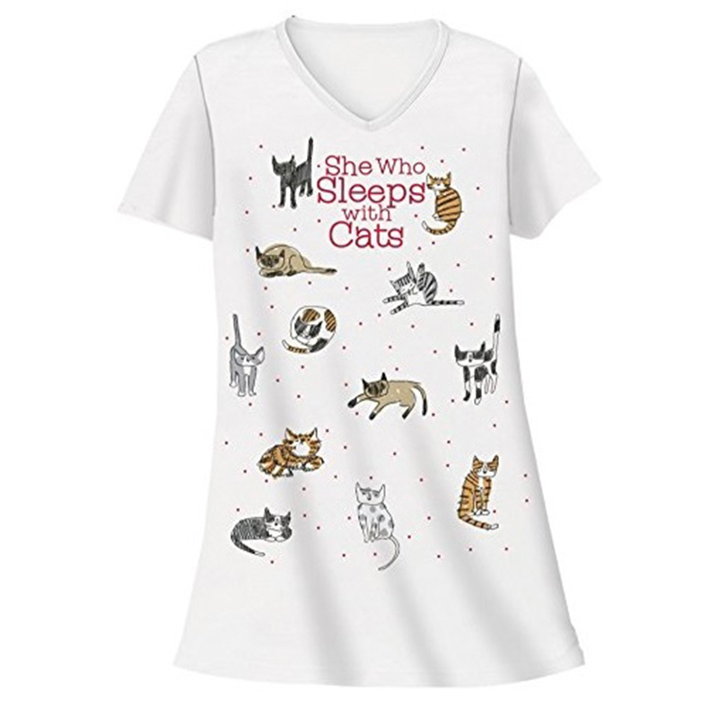 She Who Sleeps with Cats Nightshirt