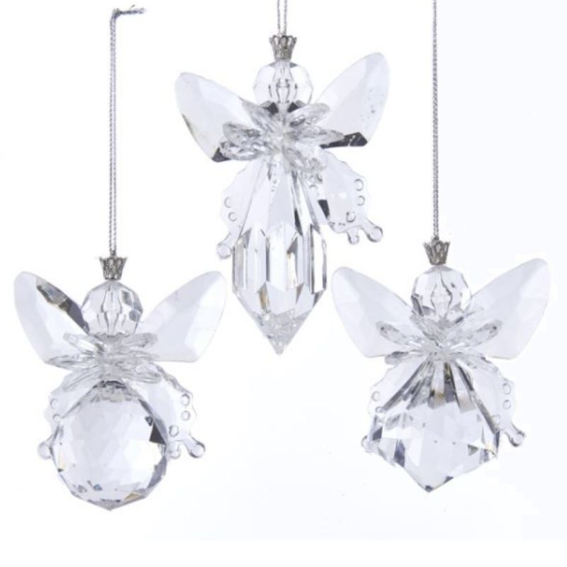Clear Angel Ornaments