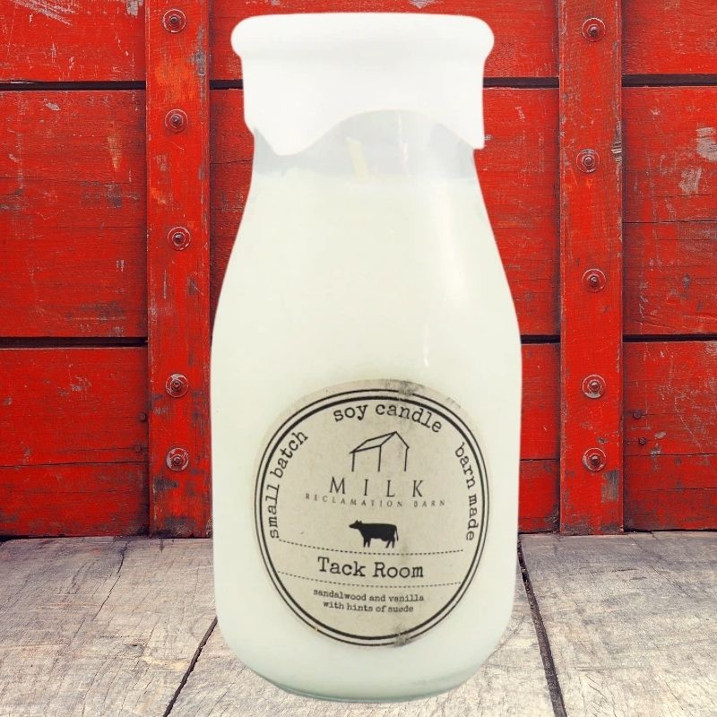 Tack Room Milk Bottle Candle