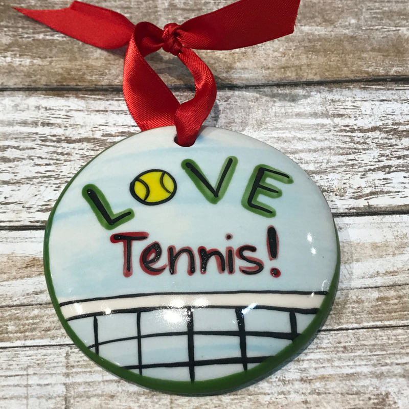 Tennis Flat Ornament