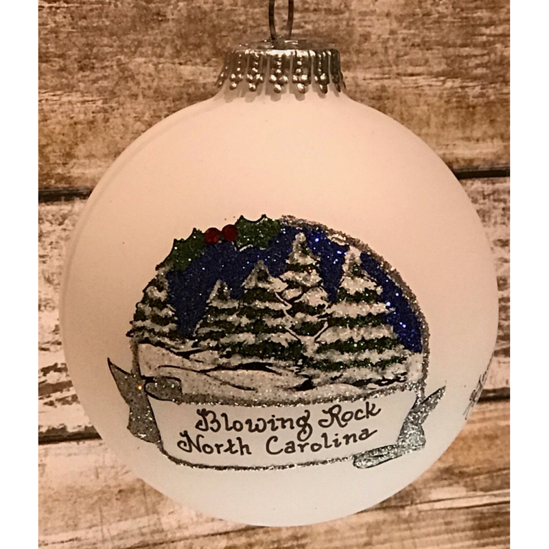 Blowing Rock Winter Scene Ornament
