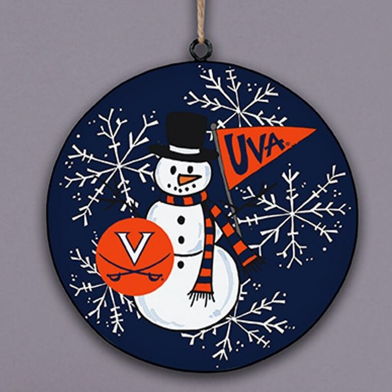 UVA Snowman Ornament