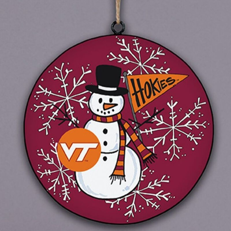 Virginia Tech Snowman Ornament